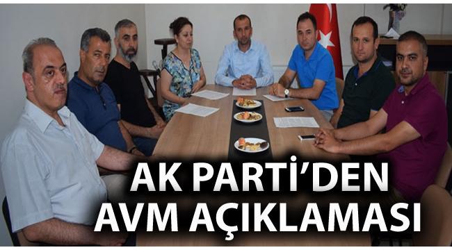 AK Parti'den AVM Açıklaması