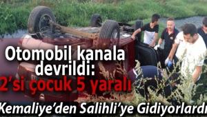 Alaşehir'de Trafik Kazası: 2'si Çocuk 5 Yaralı