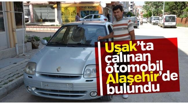 Uşak'tan Çalınan Otomobil Alaşehir'de Bulundu