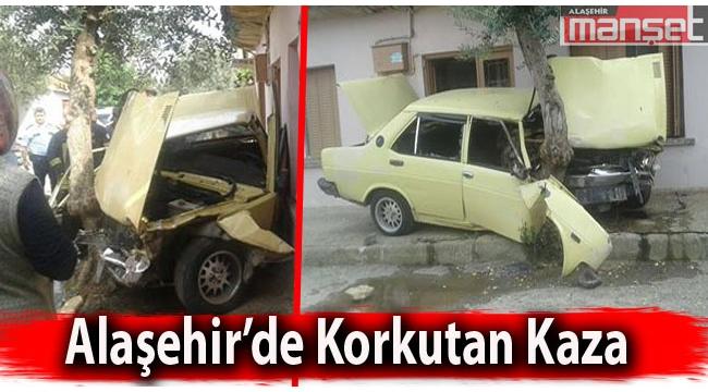 Alaşehir'de Korkutan Kaza!