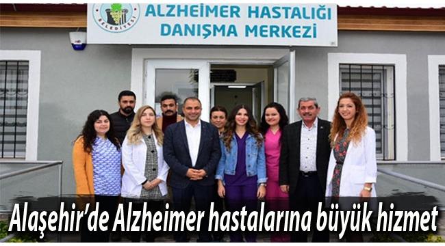 Alaşehir'de Alzheimer hastalarına büyük hizmet