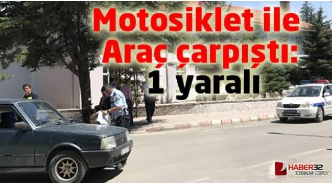 Alaşehirde Motosiklet ile Otomobil Çarpıştı:1 Yaralı