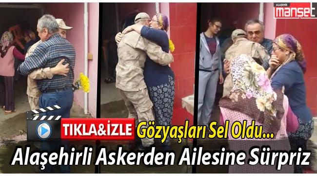 Alaşehirli Jandarma Çavuş Şahin'den Ailesine Terhis Sürprizi