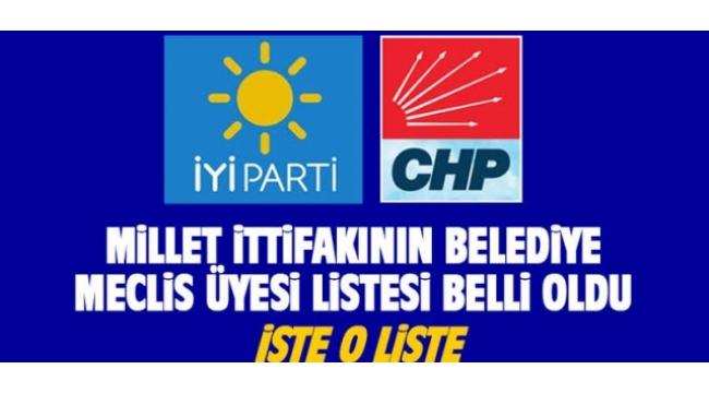 Alaşehir'de Millet İttifakı Meclis Üyesi Adayları belli oldu