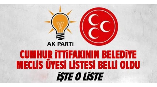 Cumhur İttifakı Alaşehir Belediyesi Meclis Üyeleri Aday listesi belli oldu