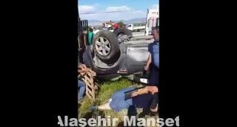 Alaşehir - Sarıgöl Yolunda Feci Kaza