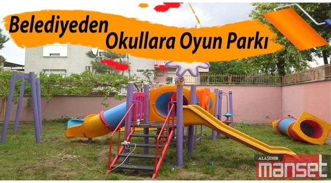 Belediyeden Okullara Oyun Parkı