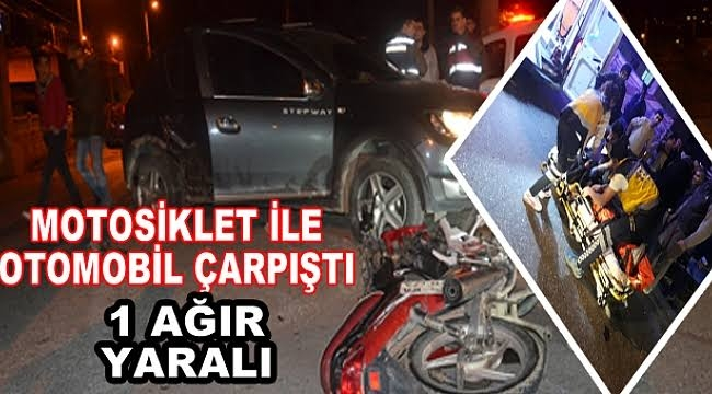 Alaşehir'de Trafik Kazası:1 Yaralı