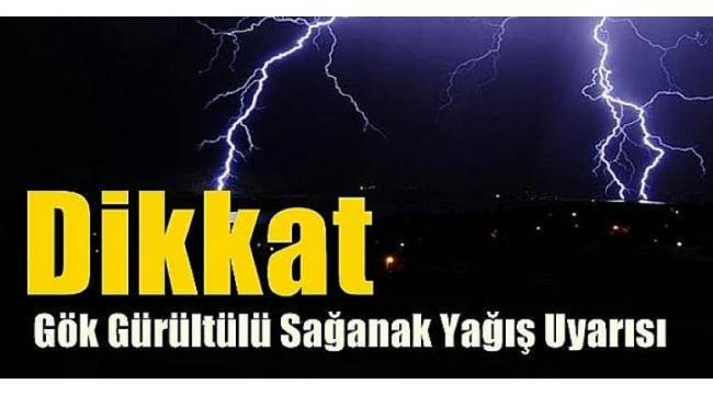 Alaşehir için Gök Gürültülü Sağanak Yağış Uyarısı