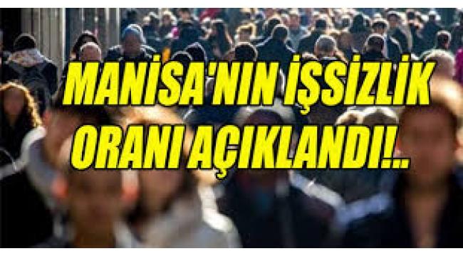 Manisa'da İşsiz Kişi Sayısı Açıklandı